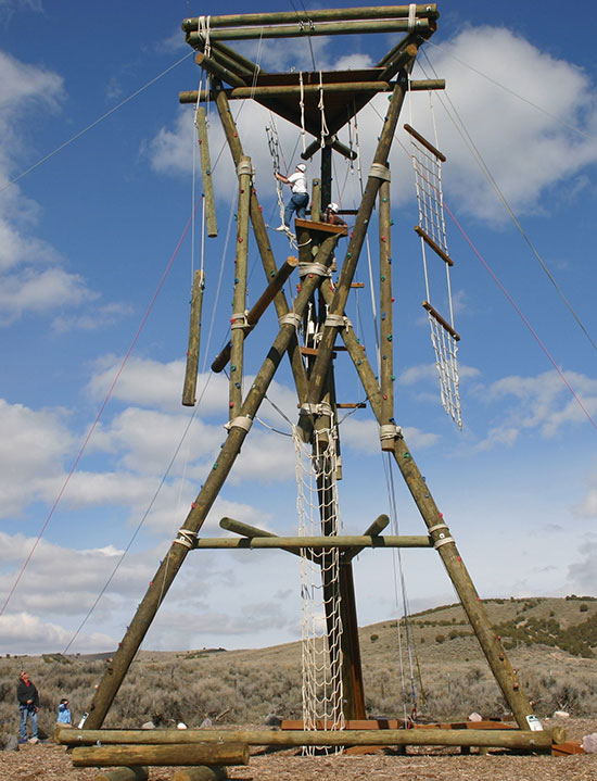 Alpine tower portion of the challenge course