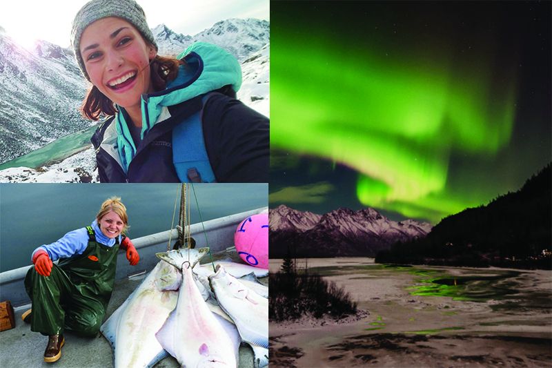 Anchorage COP students fishing, hiking a glacier, and the Northern lights
