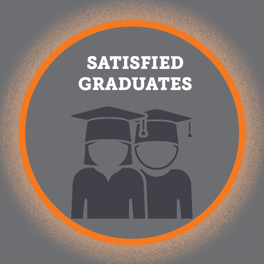 Satisfied graduates infographic