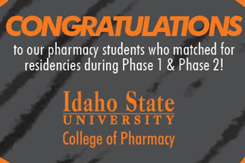 Congrats to 2019 Residents - gray background with orange text