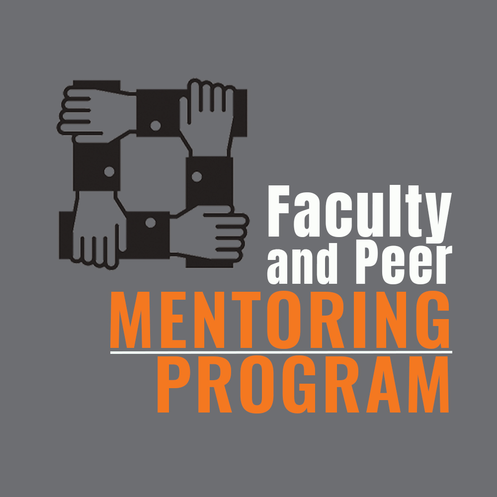 Graphic showing faculty and peer mentoring program
