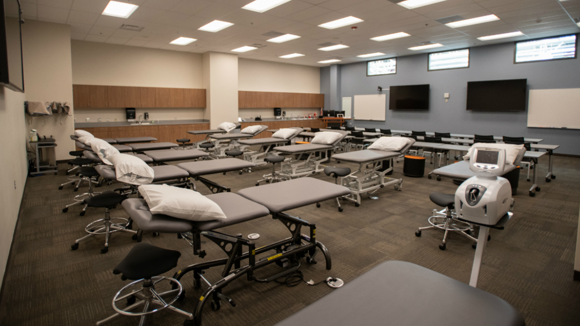 Classroom with treatment tables at Meridian facility