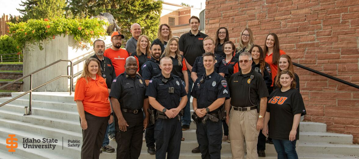 Group Picture of ISU Public Safety Staff in Pocatello