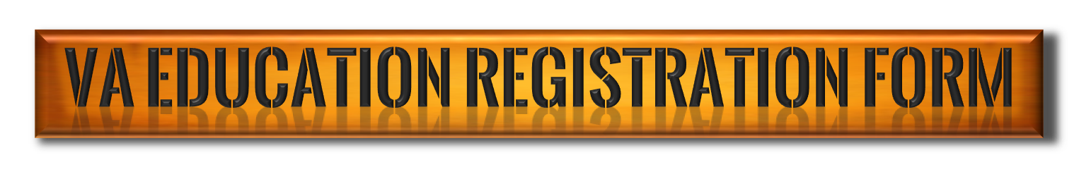 V.A. Education Registration Form navigation button