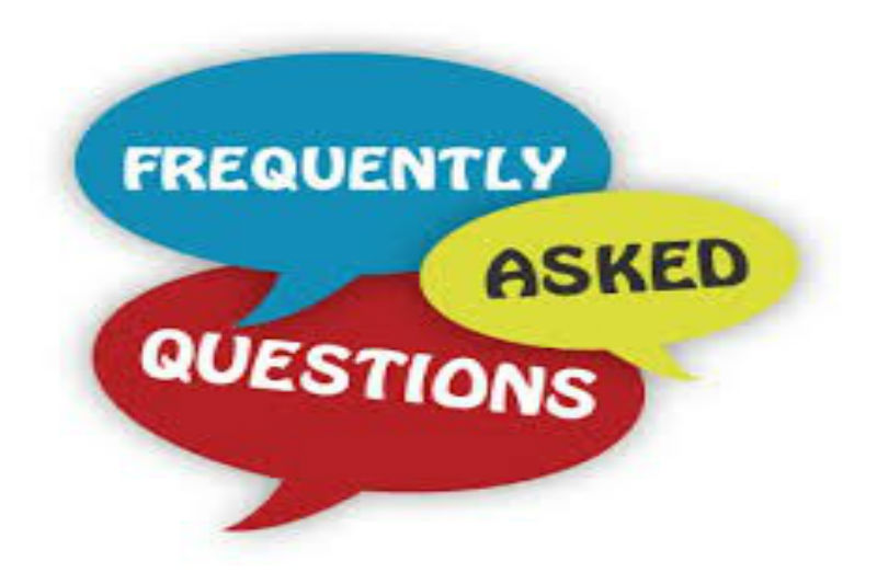 Speech bubbles saying Frequently Asked Questions