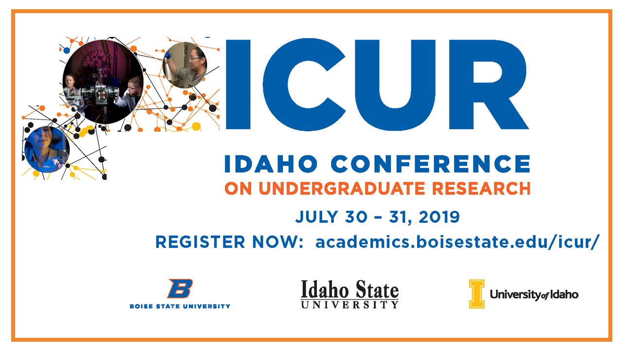 ICUR 2019 July 30-31,2019 on Boise State University campus