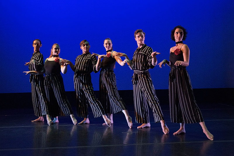 Photo from Dance Concert 2018 featuring 5 dancers
