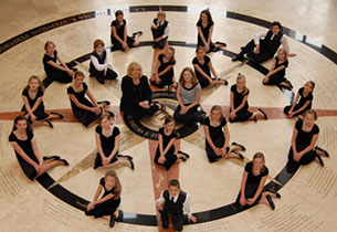 Childrens chorus in PErforming arts center