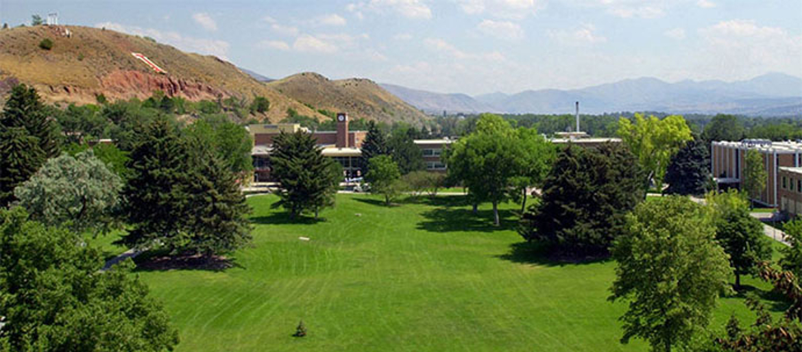 Birds eye view of the Quad