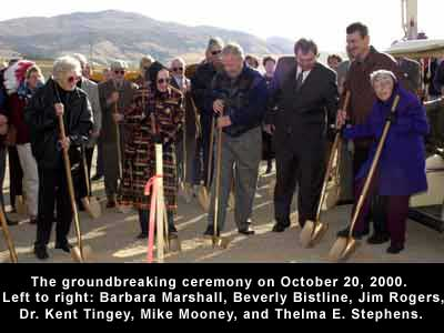 Groundbreakgin ceremony October 20, 2000