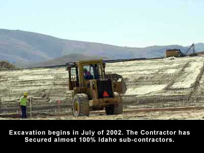Excavation began in July 2002