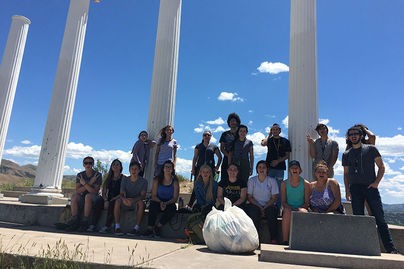 First year students at the red hill pillars