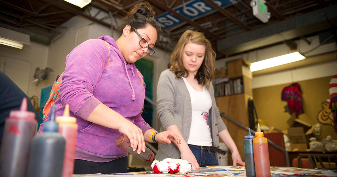 Students in a craft class