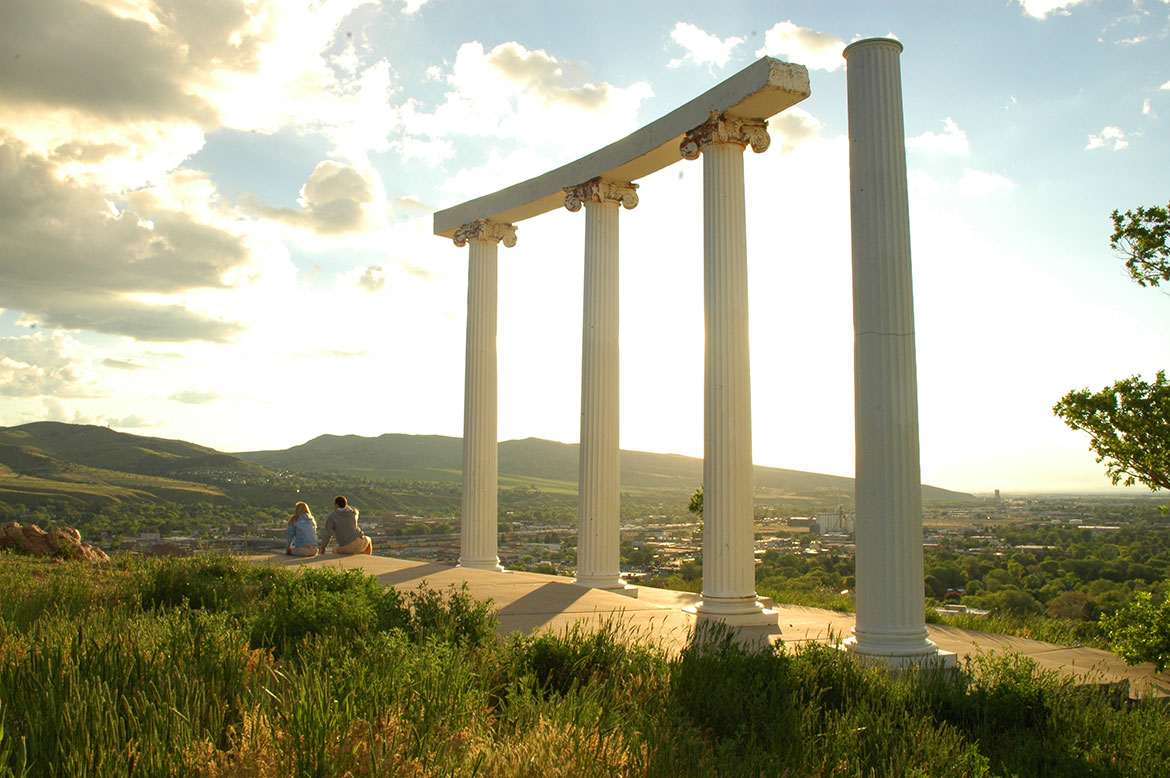 The 4 pillars on Red Hill