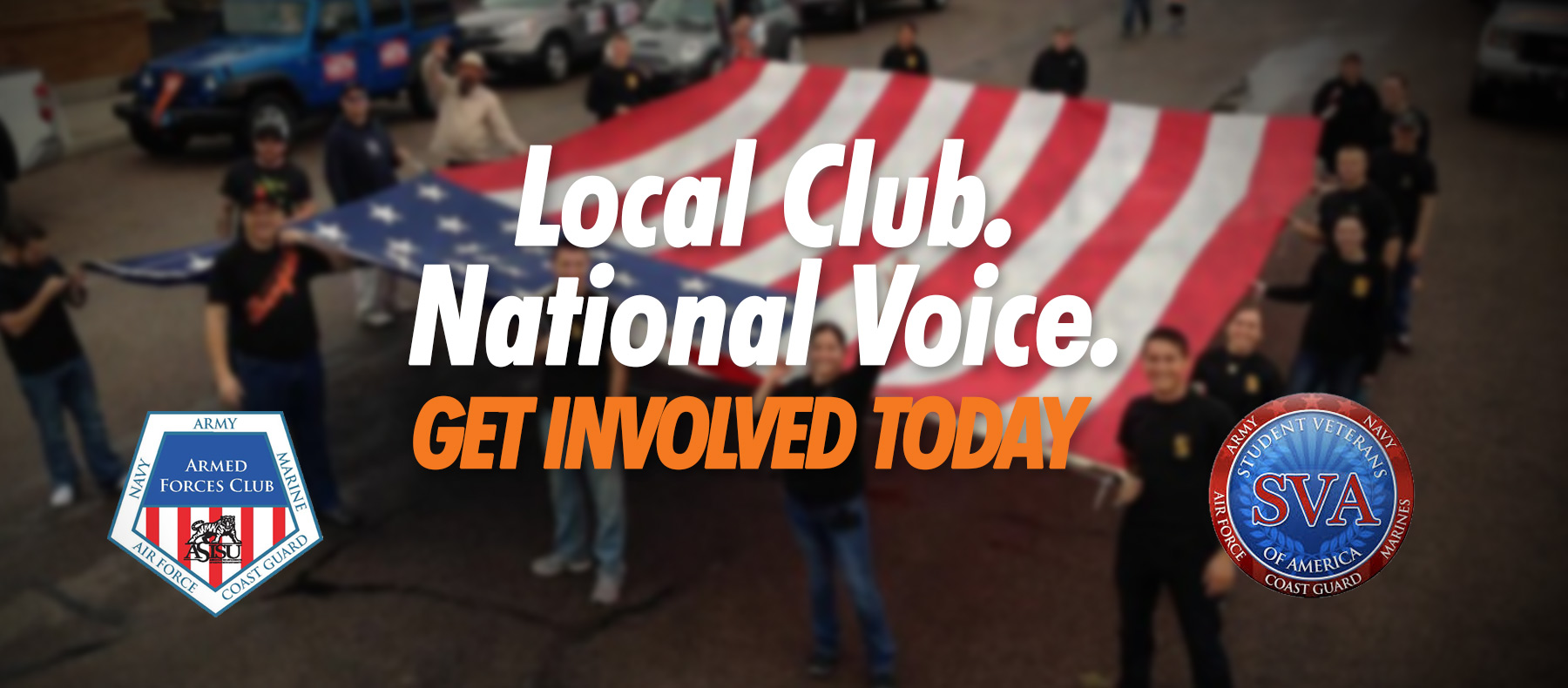 Student Veterans of America- Armed Forces Club; A local club with a national voice. Get Involved Today