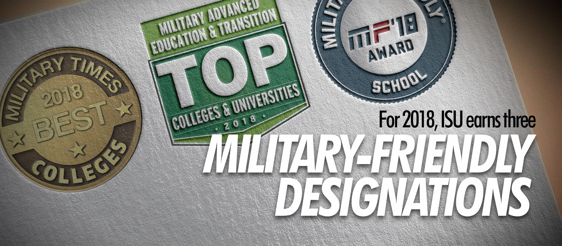 2018 Military Friendly Awards to ISU, content linked