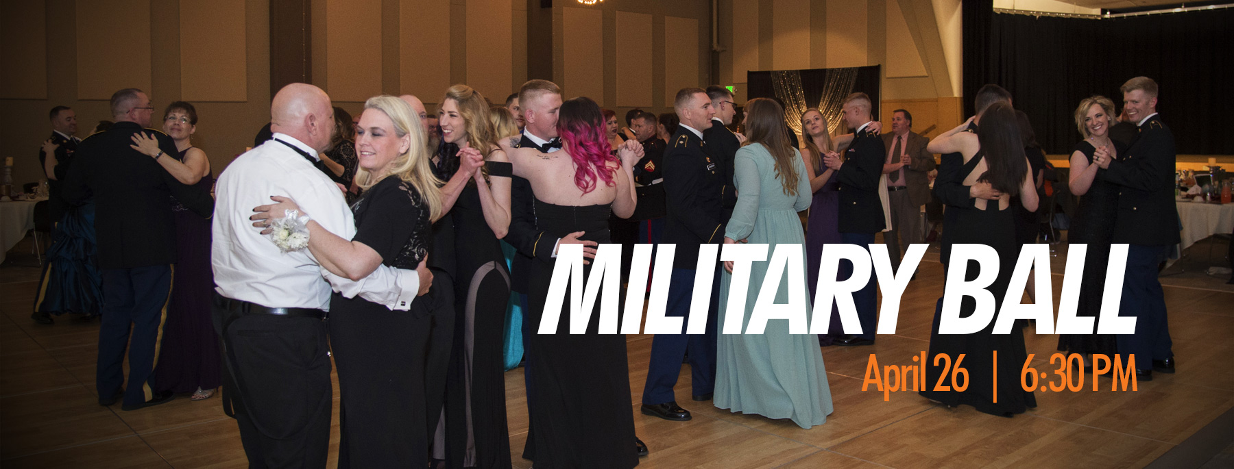 Promotional picture for the Southeast Idaho Military Ball, to be held Friday April 27, 2018