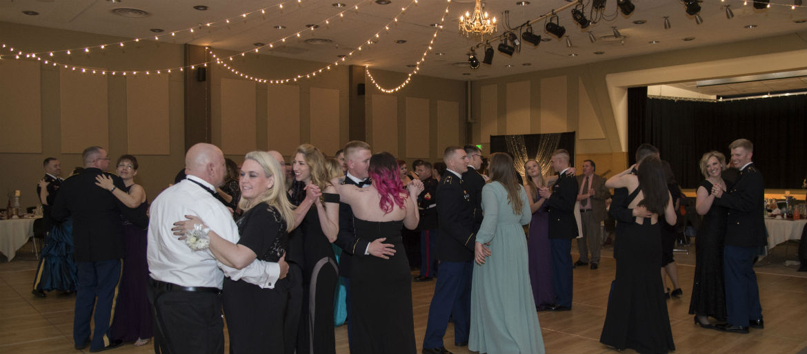 Attendees at the 2017 Military Ball dancing