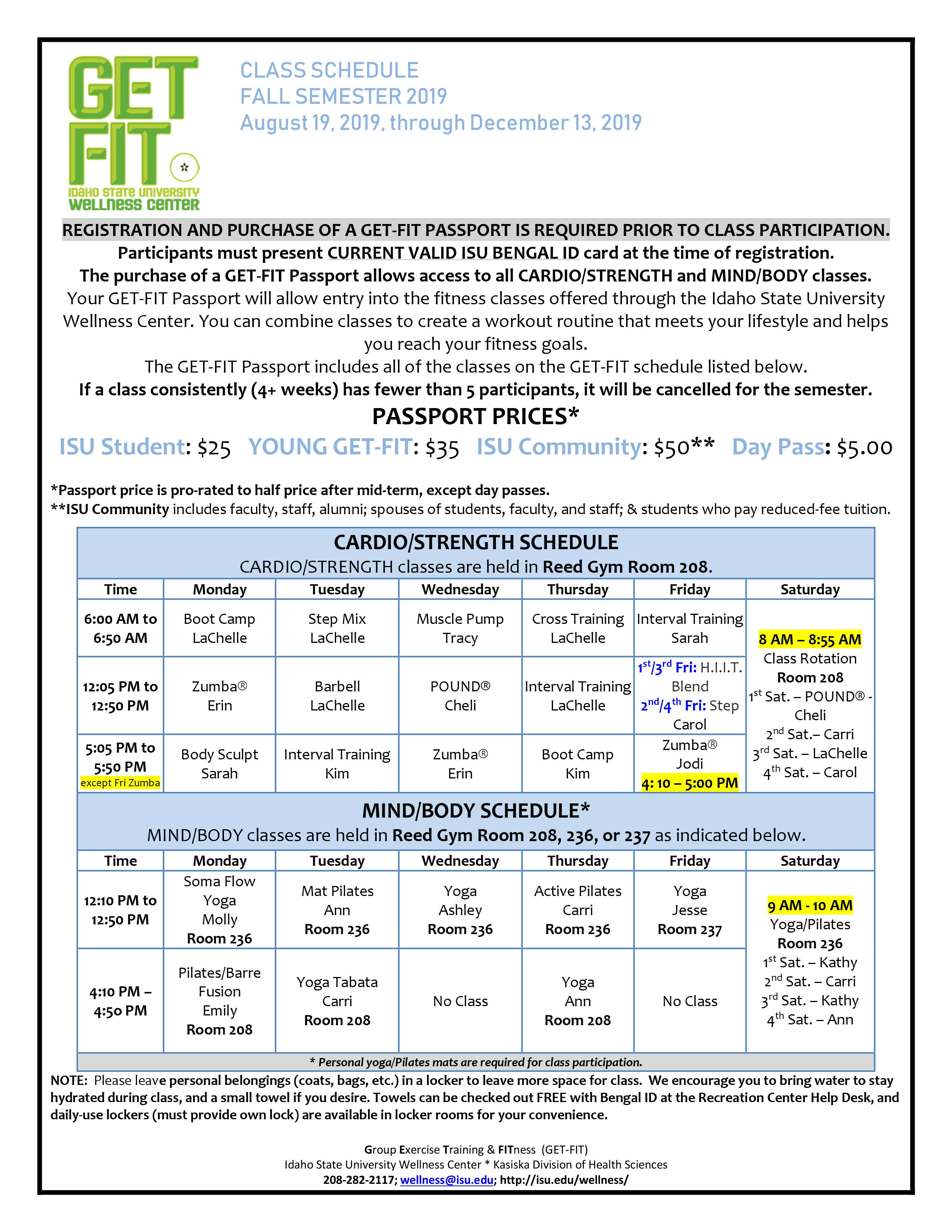 Isu Academic Calendar.Get Fit Idaho State University