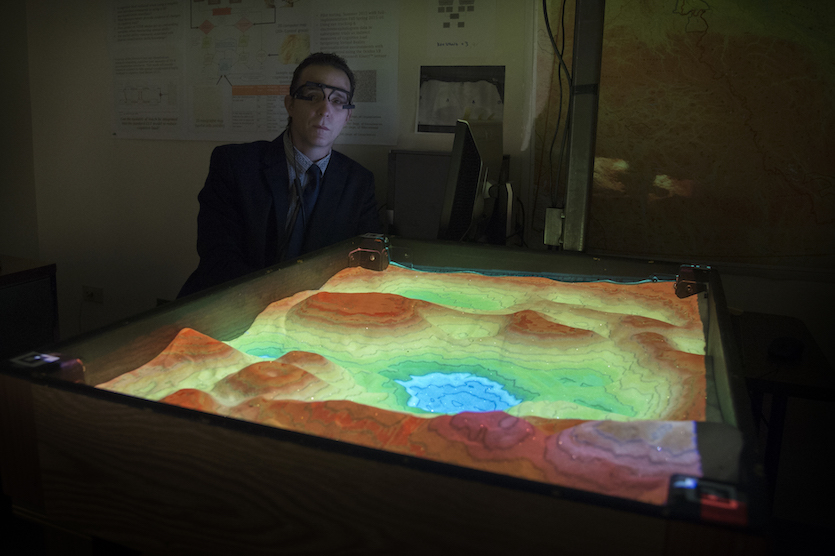 ISU doctoral student Rick Richardson investigates using 3-D topographic maps to teach spatial thinking skills, measure mental effort