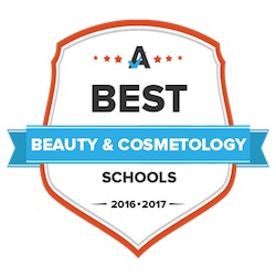 Image of a Best Beauty and Cosmotology badge.