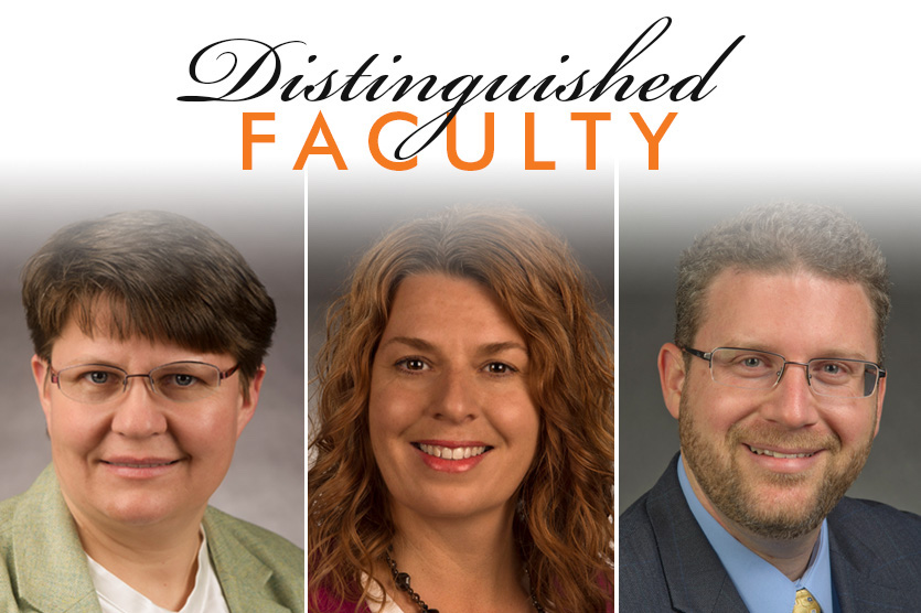 Three Idaho State University faculty members honored as 2017 Distinguished Faculty