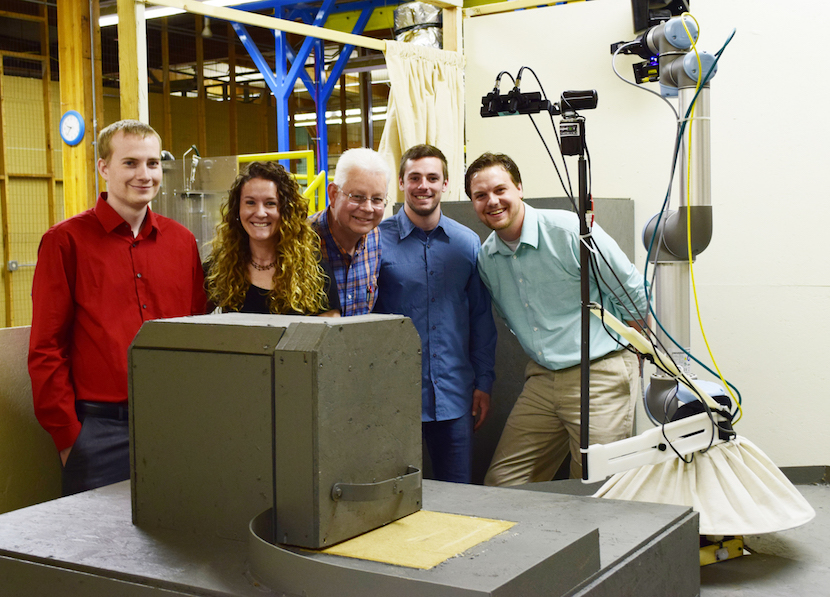 Idaho State University interns design robot for nuclear fuel facility