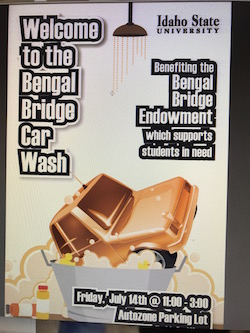 Image of the car wash poster.