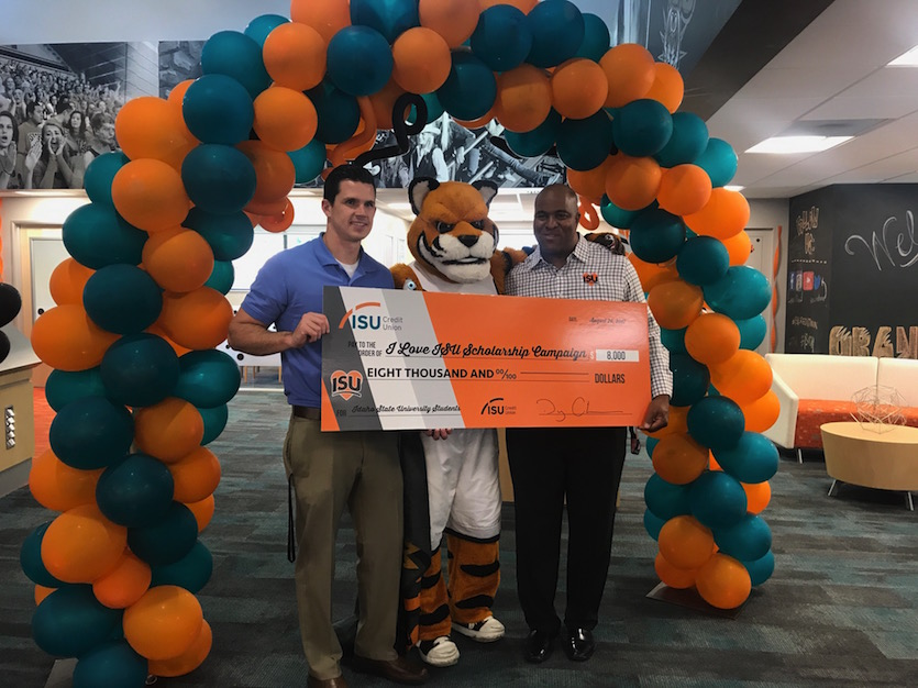 ISU Credit Union kick starts 35th annual I Love ISU Campaign with $8,000 gift