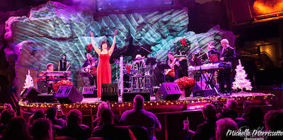 Image of Carpenters' Christmas show on stage.