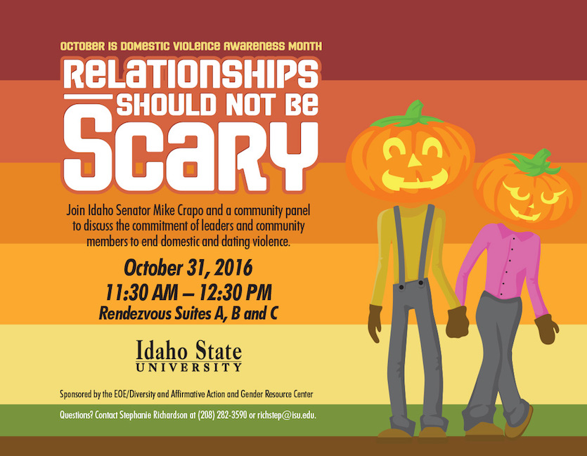 """Relationships Should Not Be Scary"" – Sen.  Mike Crapo to hold Violence Against Women Act Conference at ISU on Oct. 31"