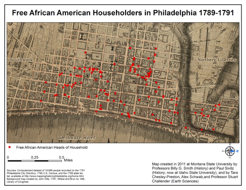 Idaho State University history professor Paul Sivitz develops map representing Philadelphia in the 18th century