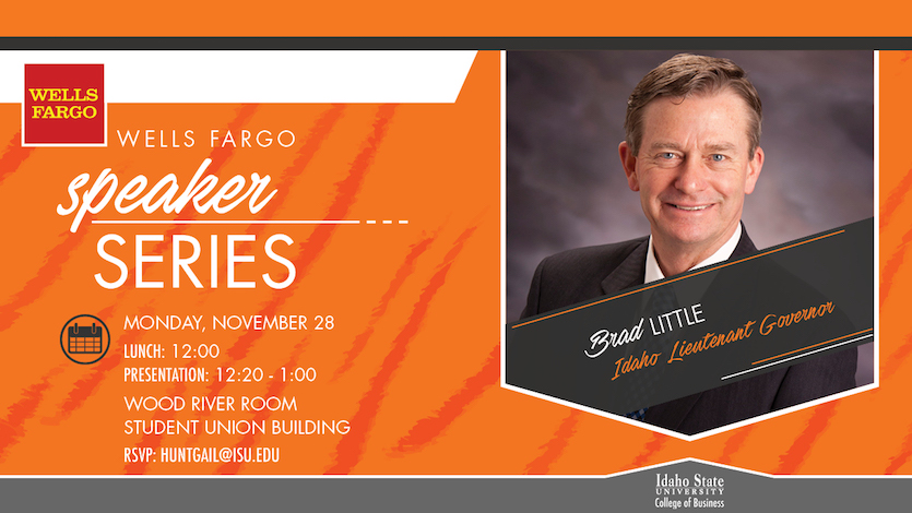 Idaho Lt. Gov. Brad Little to Speak at ISU College of Business Nov. 28