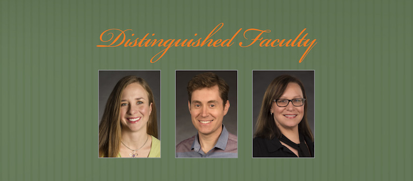 Three Idaho State University faculty members honored as 2018 Distinguished Faculty