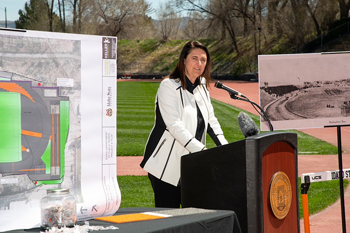 ISU Officials, Dignitaries Announce $4 Million Renovation for Davis Field