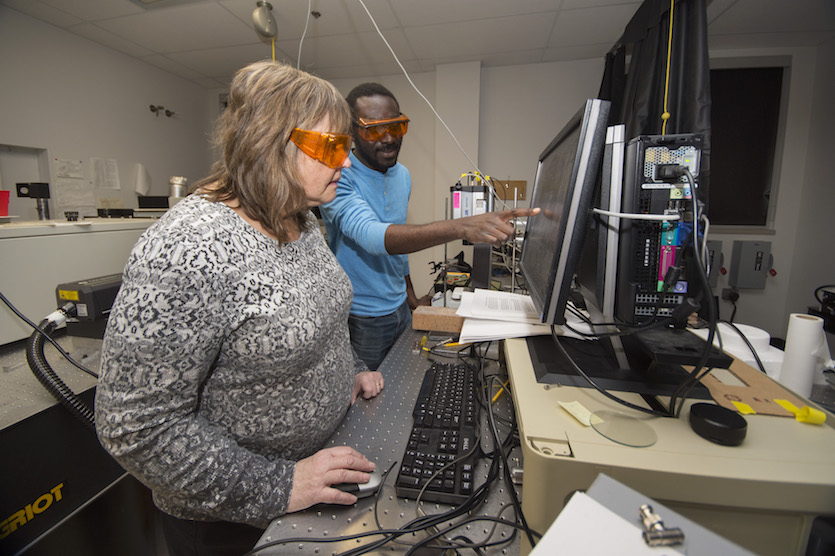 Idaho State University chemistry researchers use thermal imaging to retrieve serial numbers from stolen property in a non-destructive manner