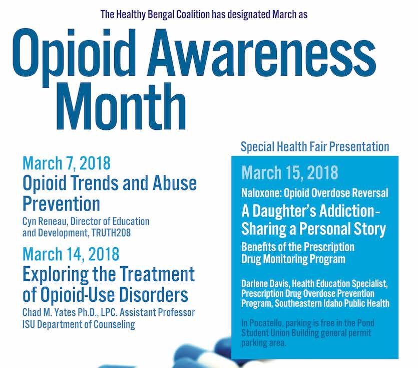 ISU's Healthy Bengal Coalition has designated March as Opioid Awareness Month