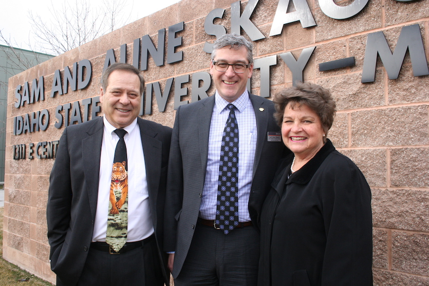 Idaho State University renames Meridian Health Science Center in honor of Sam and Aline Skaggs