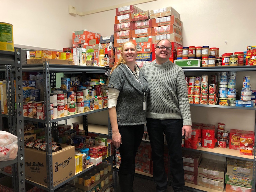 ISU Leadership Development Program, Home Depot establish food pantry at Hawthorne Middle School