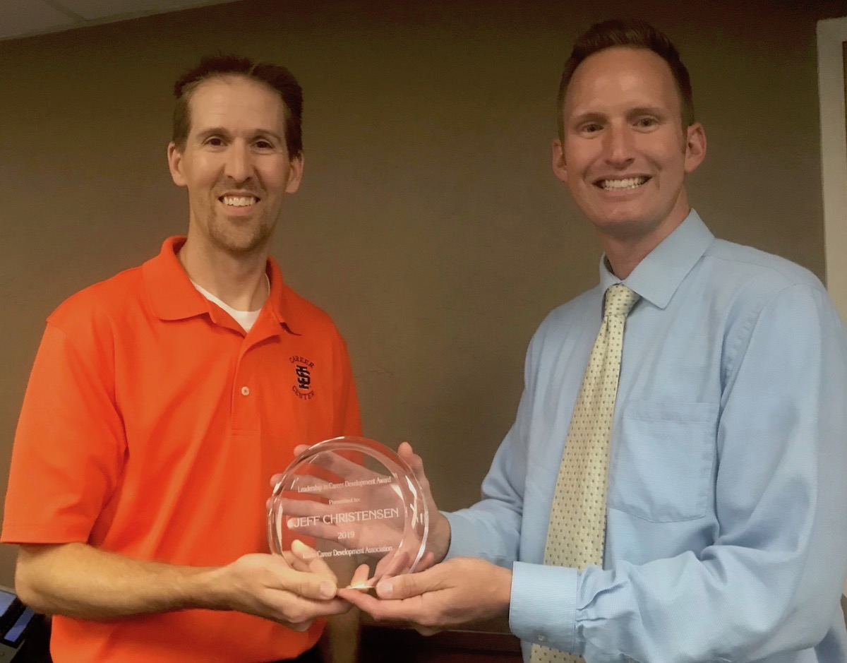 Career Center's Jeff Christensen honored as Idaho career development leader of year