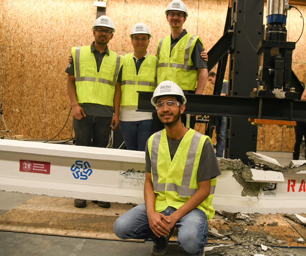 Two ISU civil engineering student teams record Top-10 finishes at national PCI Big Beam Competition