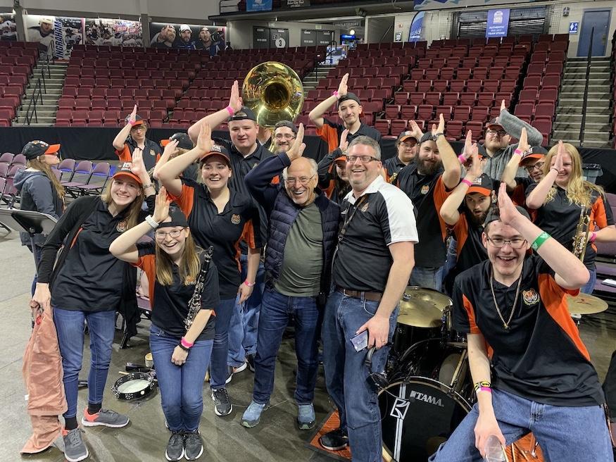 Music Legend Jimmy Buffett surprises ISU Pep Band with free
