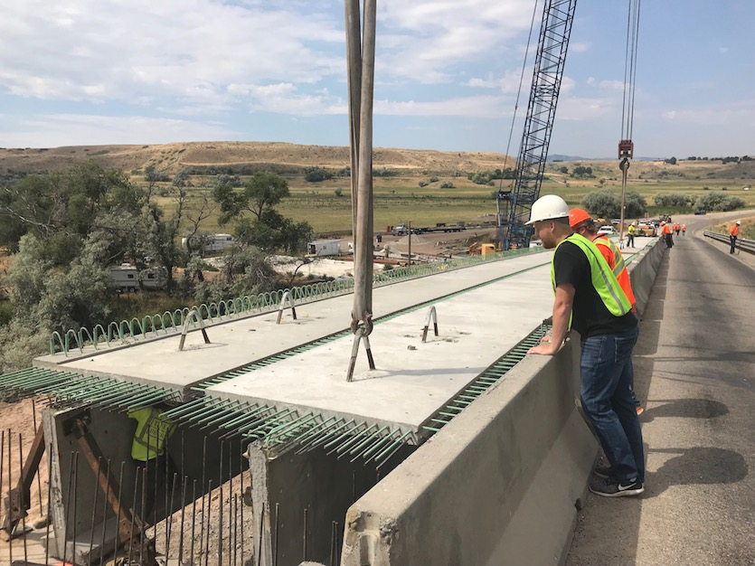 ISU engineering teams with Idaho Transportation Department on testing low-cost, high-quality concrete used for bridge construction