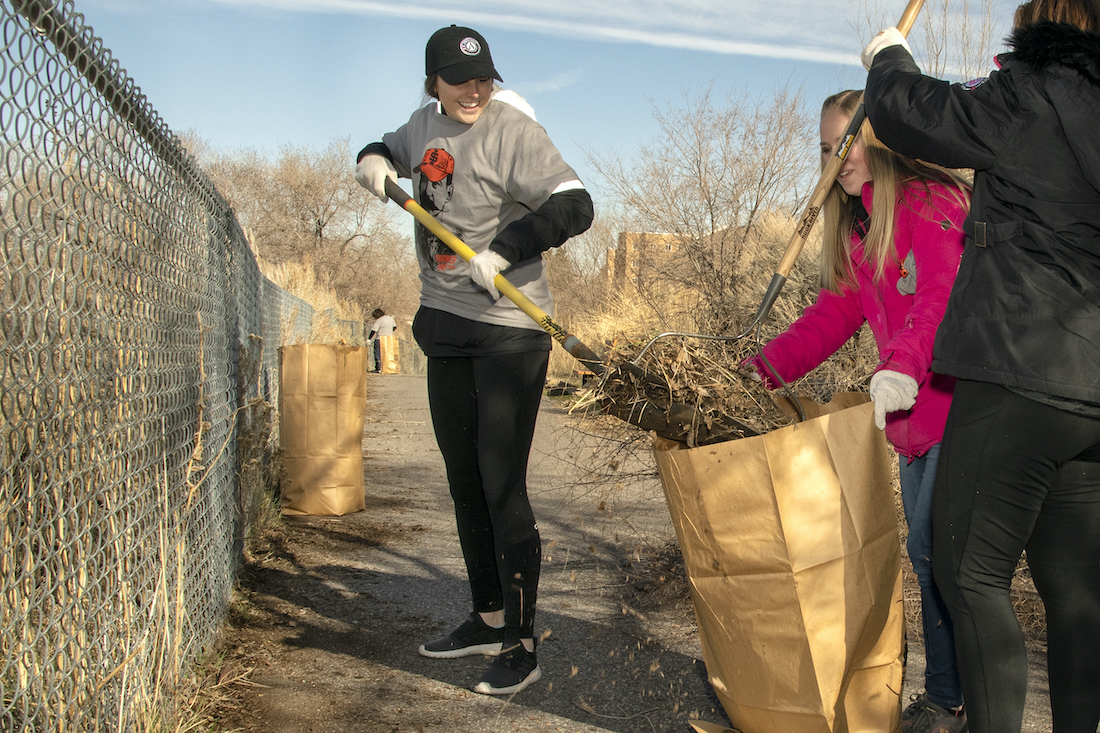 Volunteers celebrate ISU Turner Day by clearing, maintaining Red Hill trails