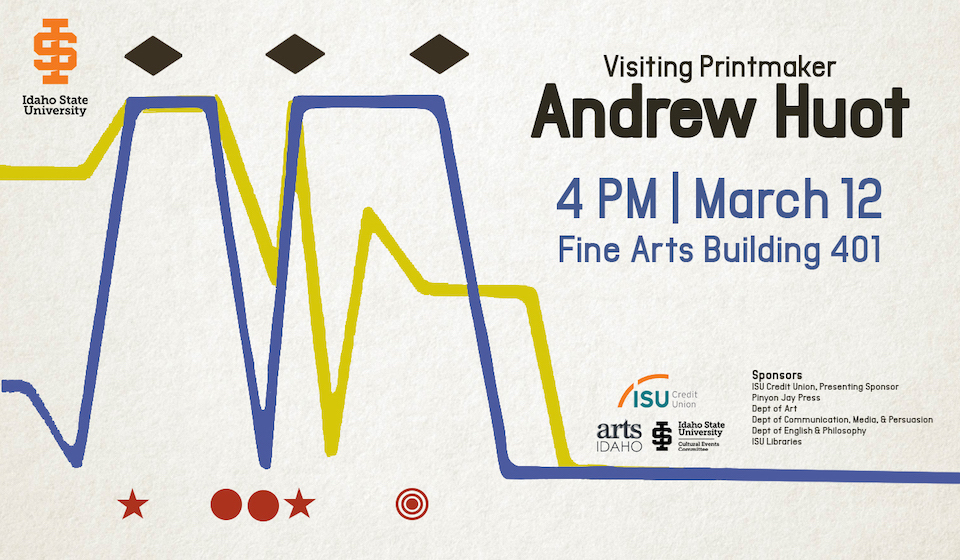 ISU Pinyon Jay Press to host lecture, workshop with printmaker Andrew Huot