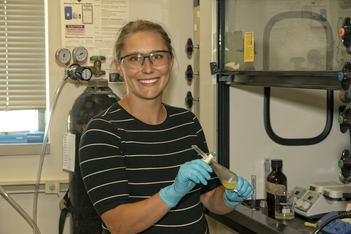 ISU chemistry Professor Jenkins lands $308k NSF grant to use waste sulfur to remove contaminants from wastewater, create greener glues