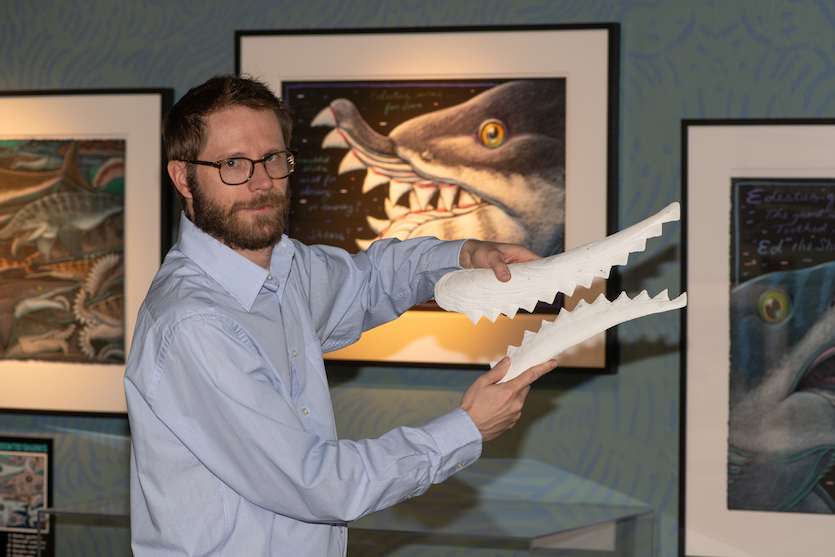 Idaho State University researchers help create skull of ancient scissor-toothed shark, Edestus