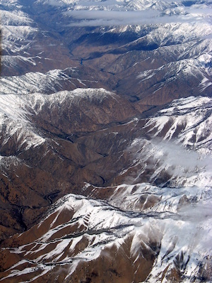 Aerial photo of Middle Fork Salmon River mountains.