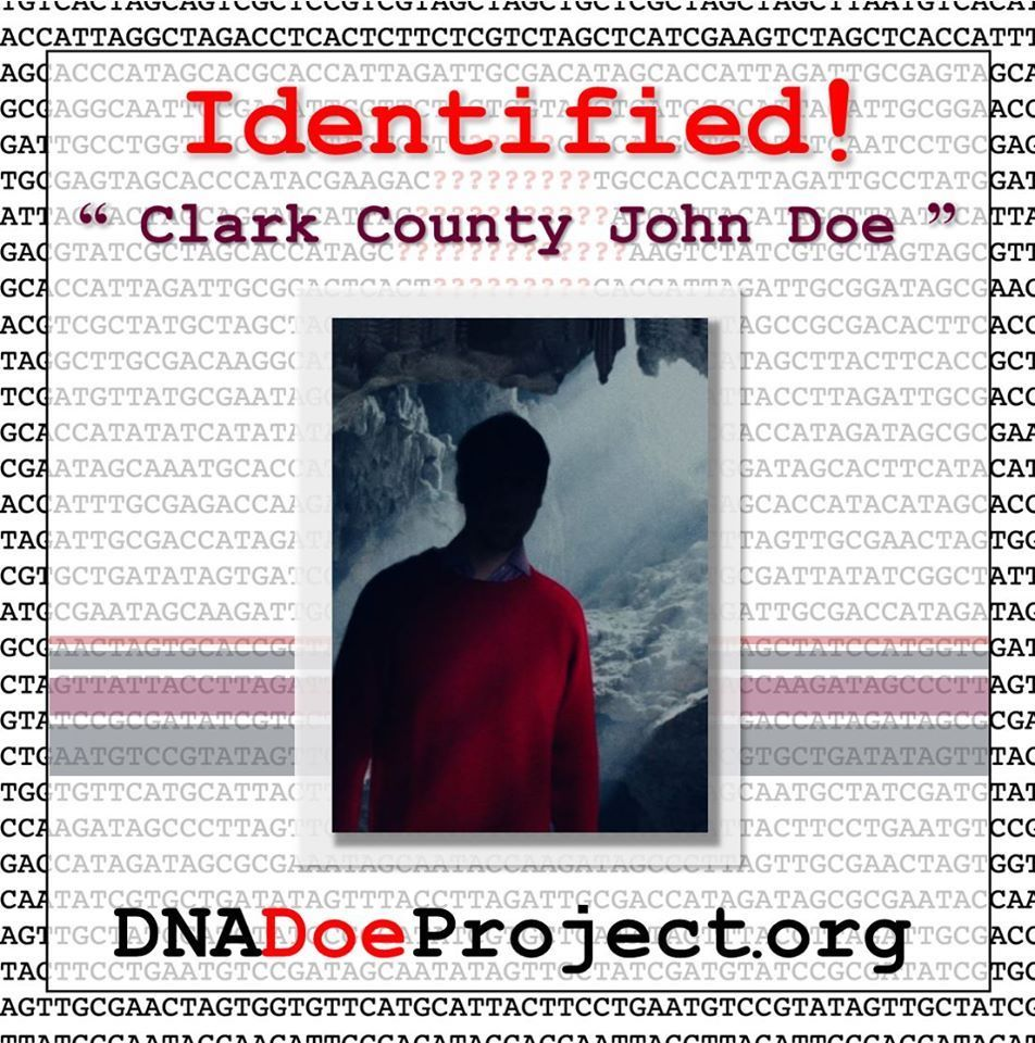 Clark County John Doe discovered in 1979 identified by ISU, UNH and DNA DOE Project researchers