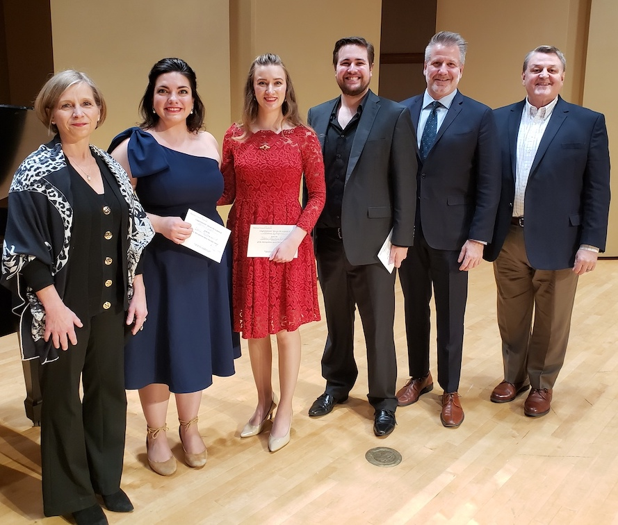 Winners and judges of MET Opera auditions.